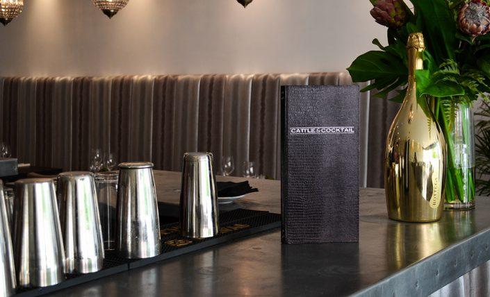 Bar and cocktail menu